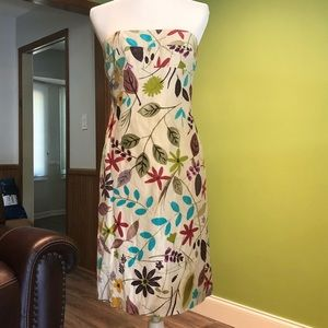 Nicole Miller Strapless Floral Dress